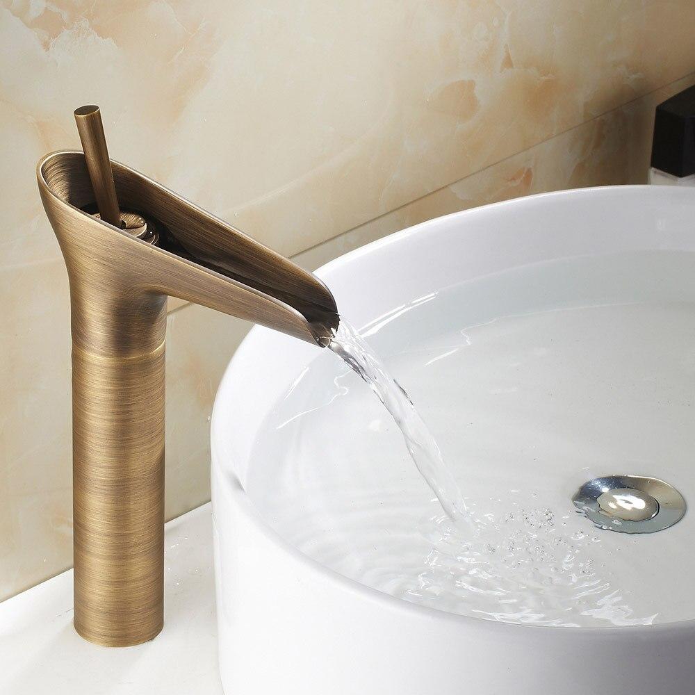 aliexpresscom acquista ottone antico cascata rubinetti bagno bacino lavello miscelatore rubinetto 9034a da fornitori tap treatment affidabili su