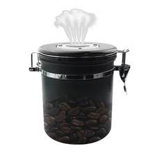 Stainless Steel Coffee Container Sealed Cans For Large Beans,Dried Fruit Tea With Timing  Exhaust Valve