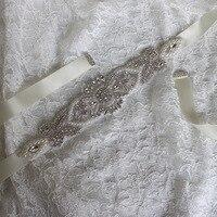 Pearls And Crystal Rhinestone Wedding Bridal Belt And Sashes 26x5cm