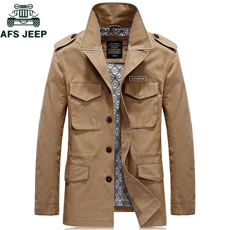 AFS JEEP Marque Automne Hiver Casual Veste Hommes Plus La Taille 4XL Jaqueta masculina Coton Armée Militaire tactique veste Outwear