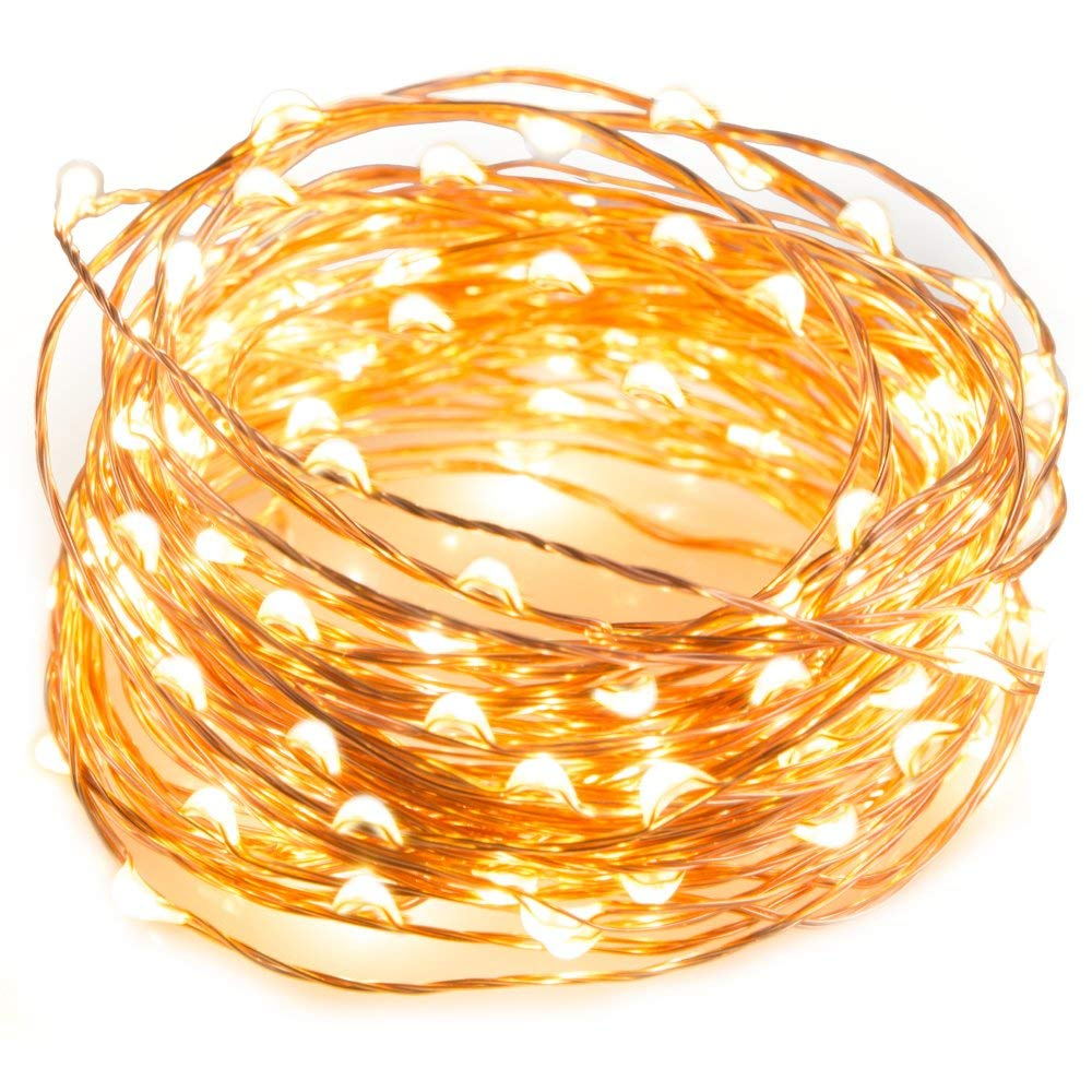 LED String Fairy Light Garland On Battery Powered Copper Wire Waterproof For Outdoor Christmas Decoration