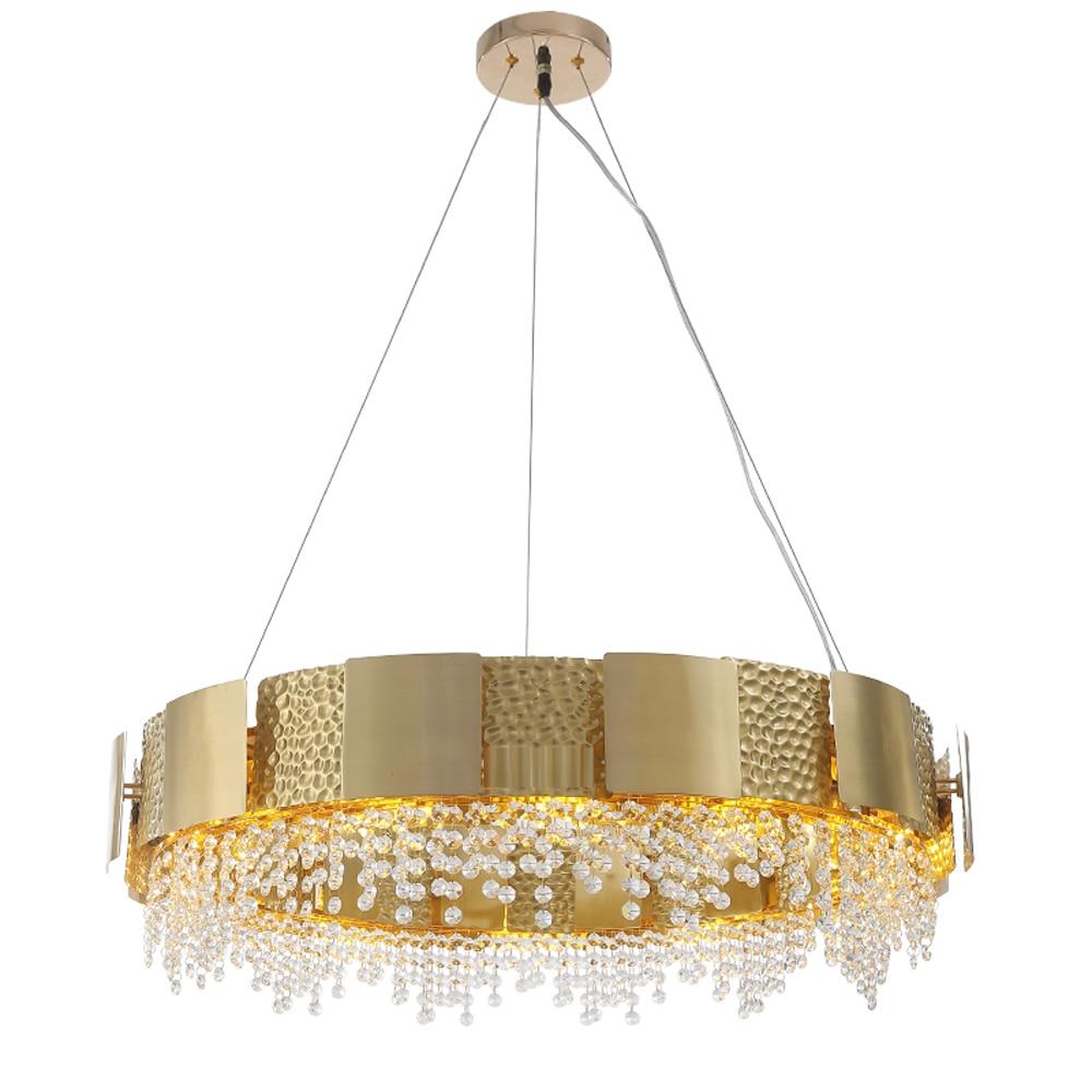 luxury design gold crystal chandelier LED lamp AC110V 220V lustre cristal living room lights dinning chandeliersluxury design gold crystal chandelier LED lamp AC110V 220V lustre cristal living room lights dinning chandeliers