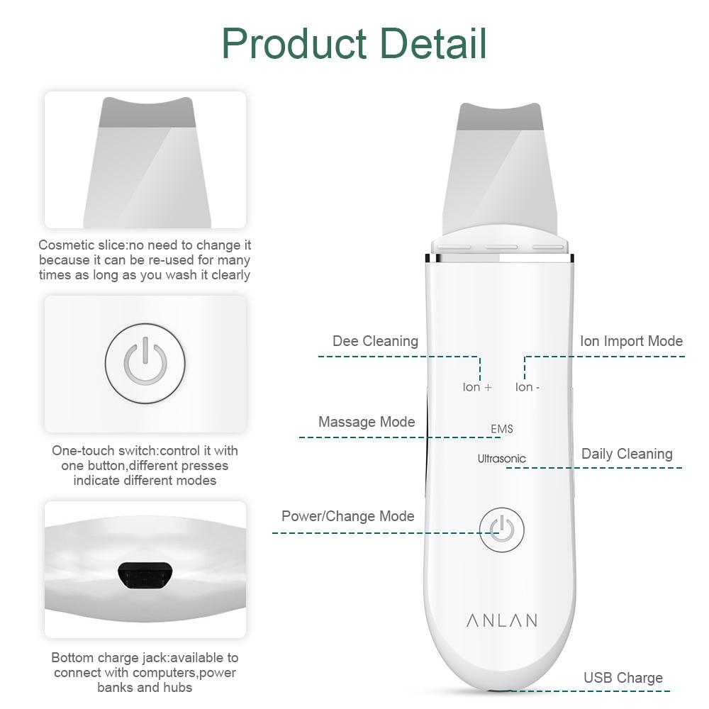 ANLAN ультразвуковий скрубер для шкіри - Інструмент для догляду за шкірою - фото 2