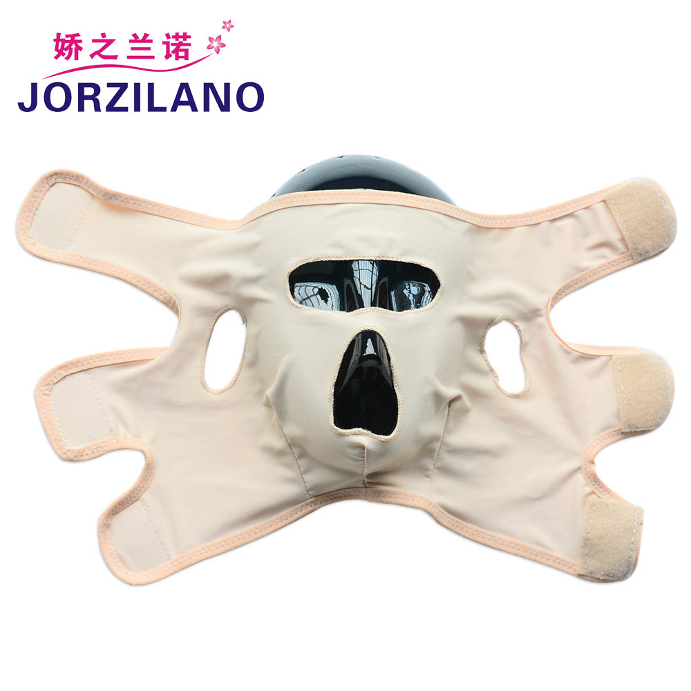 JORZILANO Good Effect Thin Face Mask Slimming Facial Masseter Reduce Double Chin Wrinkle Slim Face Belt Bandage Full Face Cover health care body massage beauty thin face mask the treatment of masseter double chin mask slimming bandage cosmetic mask korea