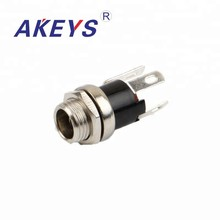 10PCS DC-025M 5.5-2.5MM metal round waterproof DC connector power jack audio