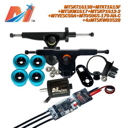 Maytech longboard brushless kit 5065 170kv motor and SuperESc Based on vesc and e skateboard wire pulley and electric motor whee