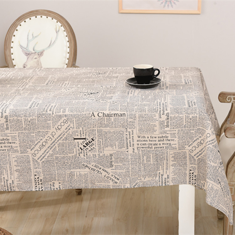 Zipsoft table tissu Anglais journal imprimé coton nappe 2017 De ...