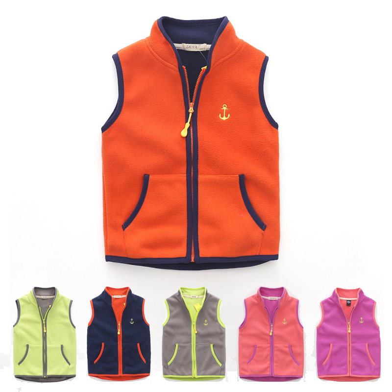 fashion kids vest for boys girls tops spring autumn 2018 new baby boy kid waistcoat fleece vest coat jacket children clothes