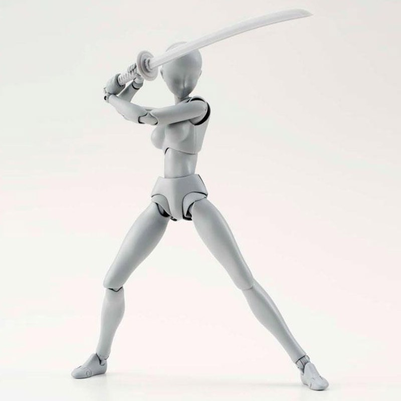 Anime Brinquedos BANDAI Tamashii Nations PVC Body Action Figure Collectible Model Doll Figma Female Male Body Chan Figures (2)