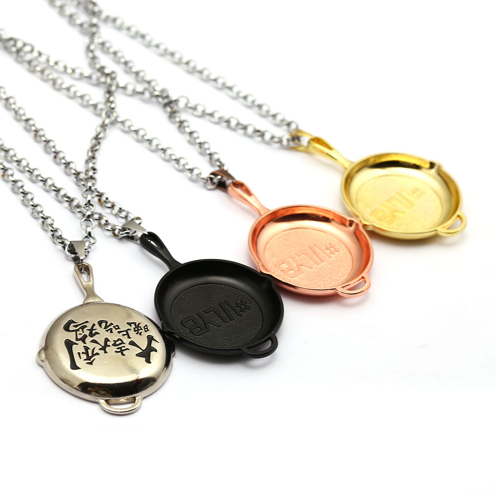 New Jewelry Men Necklace Jedi Survival Pan Pendants Accessory Choker With Chinese Character Pattern Link Chain