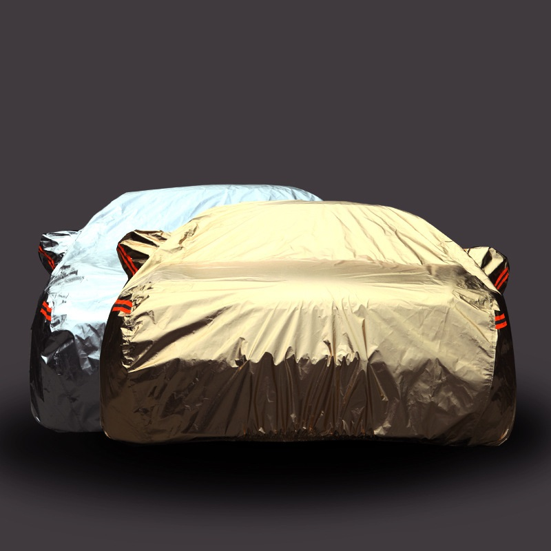 все цены на Car Cover Gold Silver Anti-theft Aluminum cotton reflective For Mercedes-Benz C A B S Class Volkswagen Golf 6 7 Ford Focus Kia