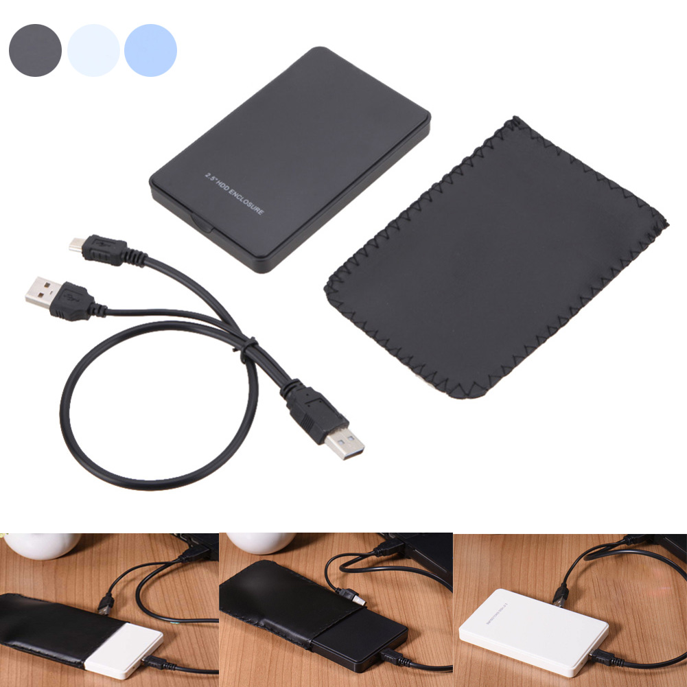 New Universal 25 Inch External Sata Hard Disk Drive Ssd Case Seagate Backup Plus Slim Harddisk Eksternal 2tb 25inch Usb30 Silver Free Pouch Pen Usb 20 Hdd Enclosure