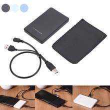 Новый универсальный 2.5 дюймов внешний жесткий диск SATA SSD случай 2 ТБ USB 2.0 Корпуса для жёстких дисков qjy99
