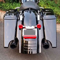"For Harley  Touring Vivid / Glossy Black 7"" Fender Extension Extended Saddlebag Fender Filler Extender Flare  1996-2008"