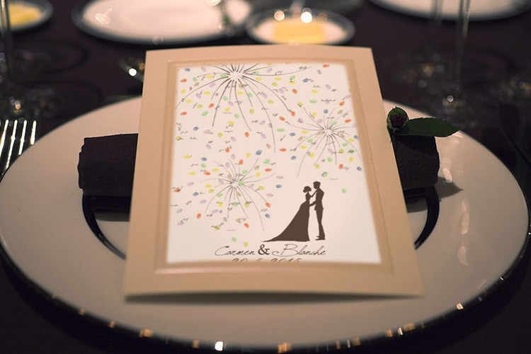 New Creative DIY Fireworks Wedding Fingerprint Tree Signature Guest Book Set For Wedding Party Painting With Ink Pad