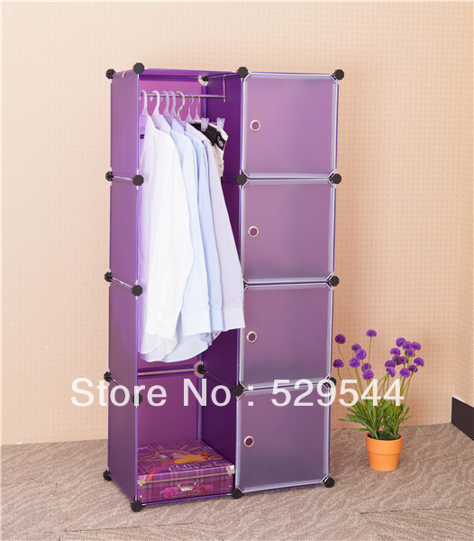 On Sale (1set/lots)PP/ Moistureproof DIY Wardrobe armoire Schrank Drawer chest End table Garderobe  Wholesale and Retail