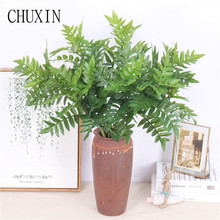 Simulation silk high branch serrated leaves home Potted green plants wedding Artificial flower wall plants wall fake fern leaves