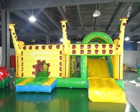 PVC outdoor playground plastic slide/ Hot Inflatable Castle Bounce House for kids