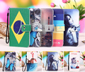"Multi cores virar pu leather wallet phone case para dexp ixion e250 alma 2 5 ""mobile phone case capa + rastreamento"