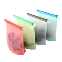 Reusable Silicone Food Storage Bags for Sandwich, Liquid Snack Lunch Fruit Freezer Airtight Seal JJJSN11116
