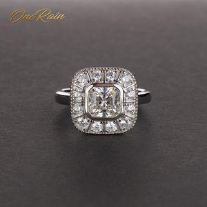 Image 1 - OneRain Vintage 100% 925 Sterling Silber Saphir Topas Citrin Diamanten Hochzeit Engagement Paar Frauen Männer Edelsteine Ring Schmuck