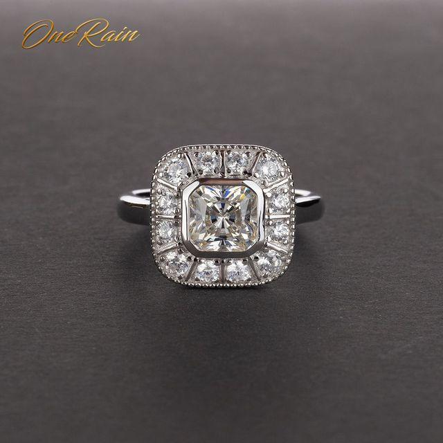 Onerain vintage 100% 925 prata esterlina safira topázio citrino diamantes casamento noivado casal feminino masculino jóias anel
