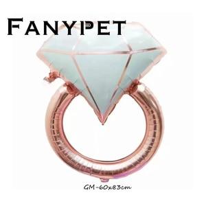 Image 5 - Anillo de aluminio de diamante de 22 pulgadas para decoración, globo con letras de oro rosa de 22 pulgadas, para boda, compromiso