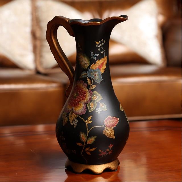 European Classical Ceramic Hand Painted Flower Vase Decorative