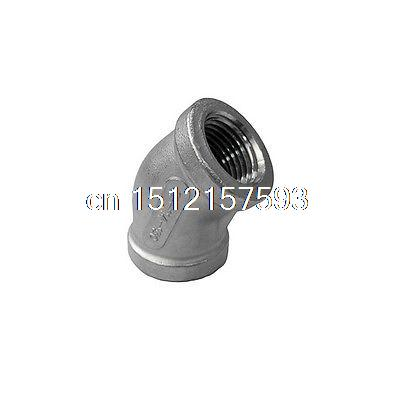 45  Degree Elbow 1 Inch BSPP Threaded Female Stainless Steel Pipe Fittings 1 malleable female straight union coulping pipe fittings stainless steel ss304 new