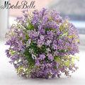 Страна стиль Фиолетовый Зеленый Невесты Букеты Брошь Букет Малый Размер Свадебные Цветы Букеты Для Невесты Девушки Цветка