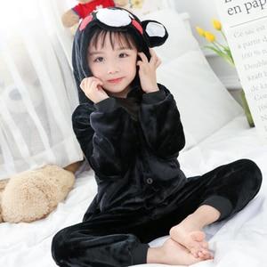 Kid Kumamoto Cosplay Kigurumi Onesies Child Cartoon Anime Jumpsuit Costume For Girl Boy Animal Disguise Sleepwear Pajamas