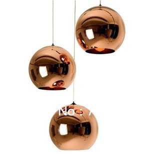 modern artistic tom dixon bronze copper shade gold glass pendant light living room dining room light - Bronze Pendant Light