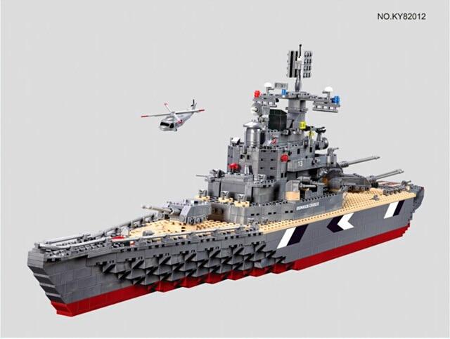 Kazi 82012 Military German Bismarck Battleship Assembly Building