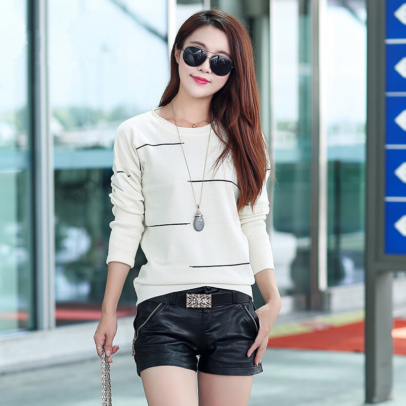 Striped long-sleeved Hitz womens sweater women christmas sweater women winter jacket Fashion sexy clothing Discount promotion