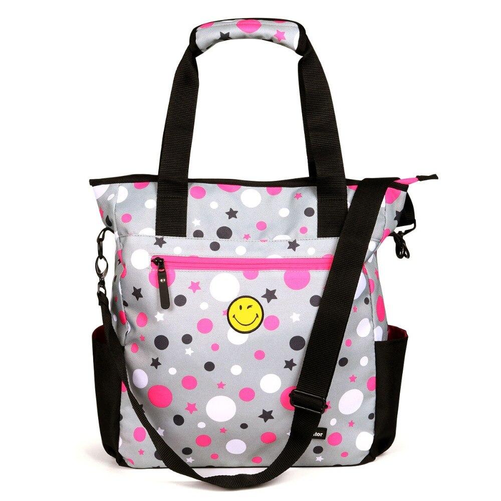 advocator cute smile 14quot laptop bag for women tote handbag