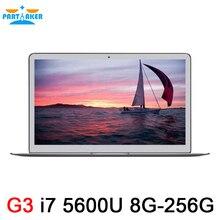 Aluminium Metal Ultrabook Laptop Intel Core i7 5600U 8G RAM 256G SSD Laptops Notebook Window 7 8 10 Linux 7000mah battery 2.6Ghz