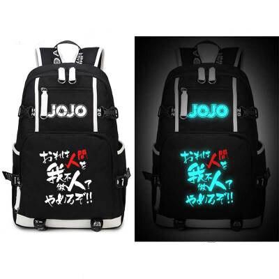 все цены на JoJo's Bizarre Adventure Backpack Cosplay Anime Kira Yoshikage Kujo Jotaro Canvas Bag Schoolbag Travel Bags онлайн