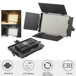 New 540 LED Studio Video 3200K-5600K Slim Bicolor Dimmable LCD Light Lamp for Camera Camcorder