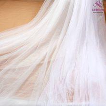 La Belleza 300cm width mesh pure white/beige /off white bridal viel fabric 2 ways stretch tulle 5 yards /lote