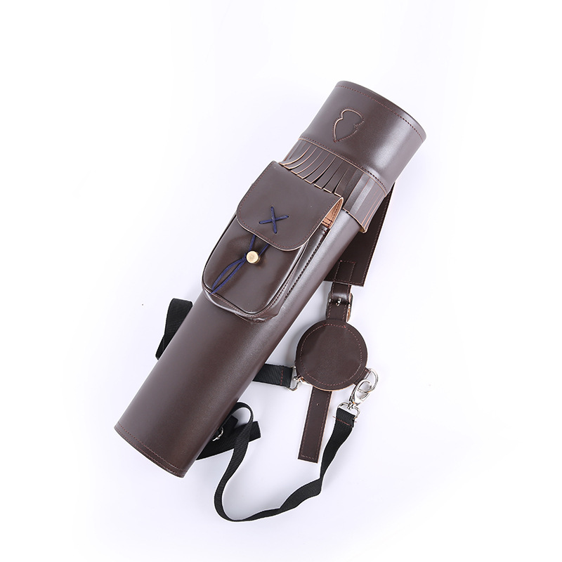 Large Traditional PU Leather Back Archery Quiver Arrow Holder for Compound Recurve Bow Shooting Hunting Archery Bow Arrow Quiver dmar archery quiver recurve bow bag arrow holder black high class portable hunting achery accessories