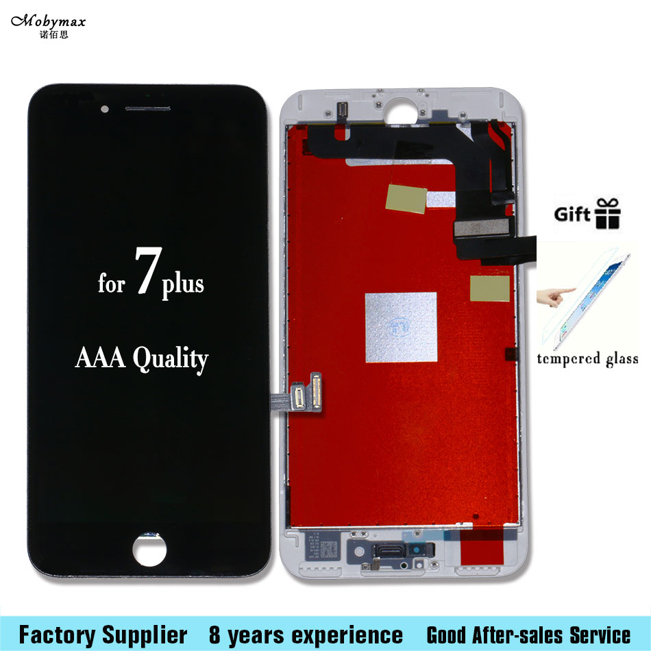 For iPhone 7 Plus New 5.5 inch LCD Display Screen Touch Digitizer Assembly A1661 A1784 A1785 Tempered film