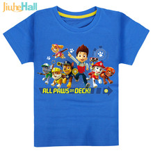 7 Types Hot Sale Kids Cartoon Paw Dog Print T-Shirts 100% Cotton Boy Girls Tee Tops Patroll Clothing For Kids 2-6 Years CMB131