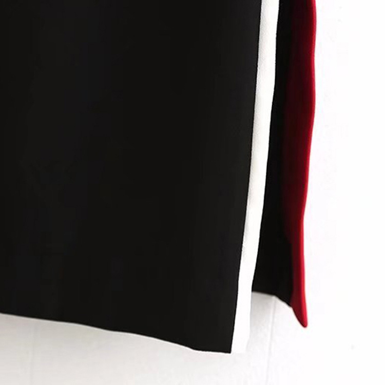 Del Envío Libre En Negro Falda De Manera La Cintura Alta Faldas Stock Straight Remiendo pnxPtqIwn
