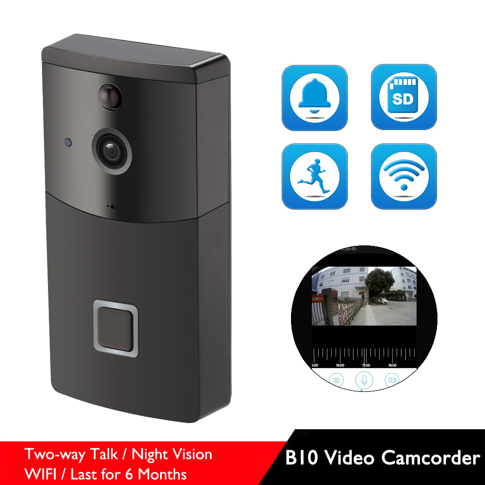 B10 Two Way Talk WIFI Video Camcorder Low Power Last for 6-8 Months Wireless Night Vision Camera with Doorbell OptionB10 Two Way Talk WIFI Video Camcorder Low Power Last for 6-8 Months Wireless Night Vision Camera with Doorbell Option