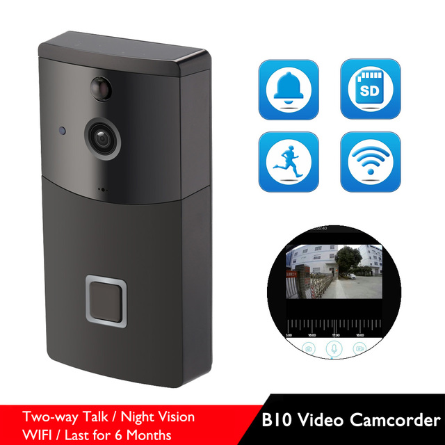 B10 Two Way Talk WIFI Video Camcorder Low Power Last for 6-8 Months Wireless Night Vision Camera with Doorbell Option