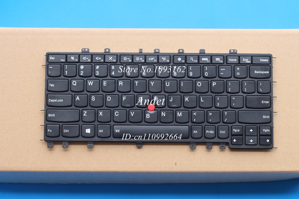New Original for Lenovo ThinkPad S1 Yoga 12 Backlit Keyboard US English 04Y2620 04Y2916 SN20A45458 new original for lenovo thinkpad x1 yoga us english keyboard backlit 00pa072 01aw927 00jt888