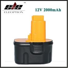 Eleoption 12 В 2000 мАч NI-CD Замена Мощный Инструмент Батареи для Dewalt DW9071 DW9074 DE9037 DW9071 DW9072 DE9075