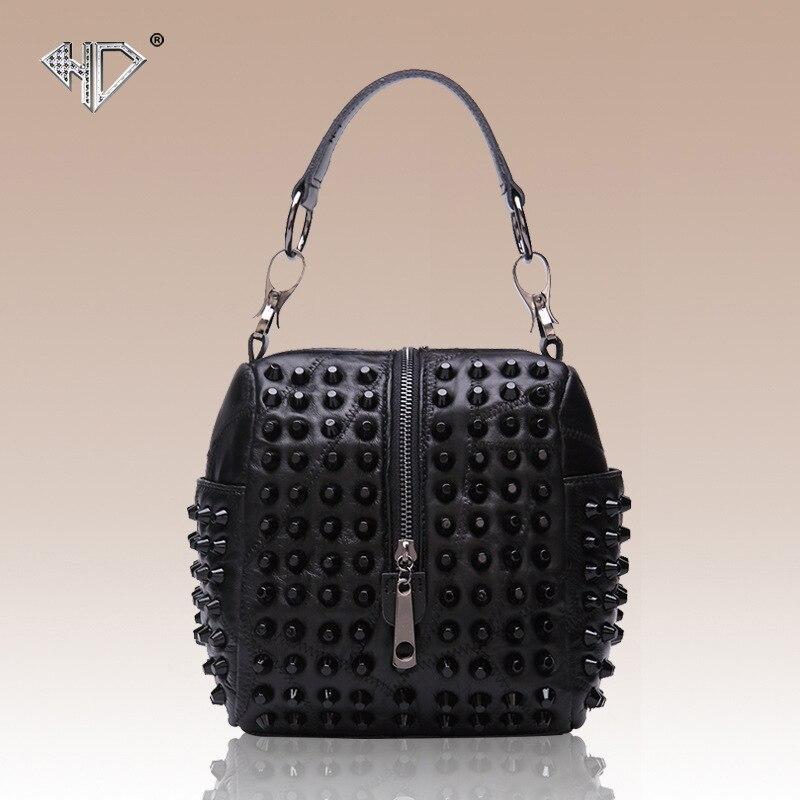 discount designer handbags jeao  discount Designer Handbags 2017 New Style Real Genuine Leather Sheepskin  Bag Studded Leather Shoulder Bag Satchel Bag Mobile phone Black shoes