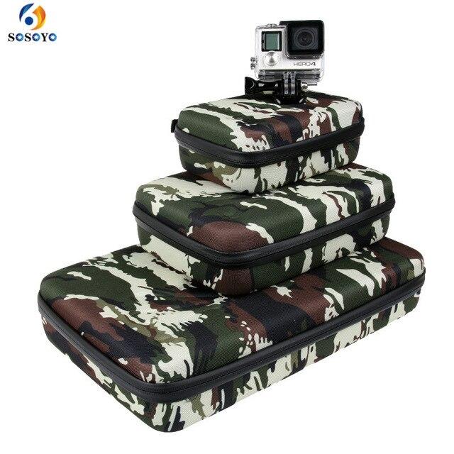 Portable Storage Bag Case Protective EVA Box For GoPro Hero 6 5 4 3+ Xiaomi Yi Sjcam Action Camera Accessories Camouflage Bag