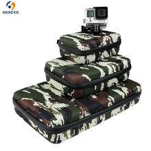 Taşınabilir saklama çantası Kılıf Koruyucu Için EVA Kutusu GoPro Hero 6 5 4 3 + Xiaomi Yi Sjcam Eylem Kamera Aksesuarları kamuflaj Çantası